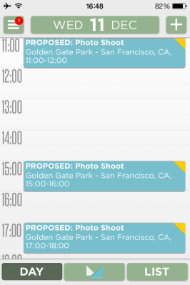Mynd blocks out proposed event times in your calendar — no more overbooking!