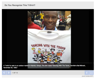 NPR t-shirt