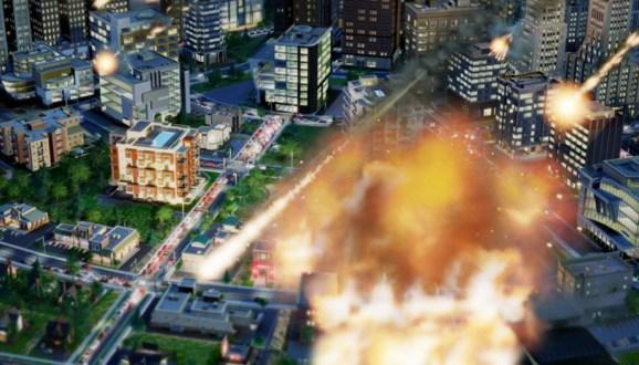SimCity meteors