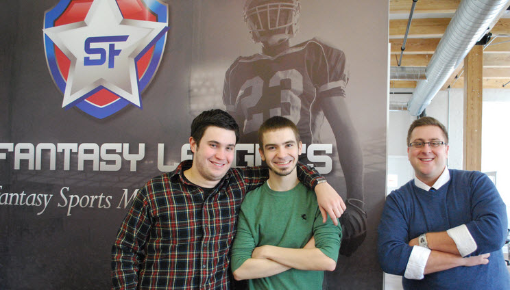 Star Fantasy Leagues founders Zach Stanley, Justin Stanley, and Seth Young.