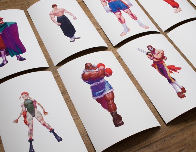This is the Super Street Fighter II Box Set. It includes portraits of every character from the game on canvases 12 inches tall and 10 inches wide.