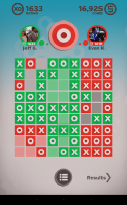 A finished match in Tic Tactics.