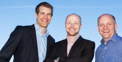Tobii founders Mårten Skogö, John Elvesjö, and Henrik Eskilsson.