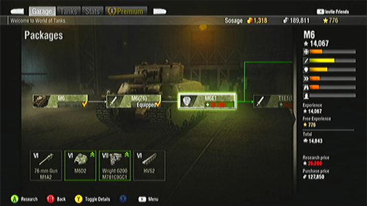 World of Tanks: Xbox 360 packages system