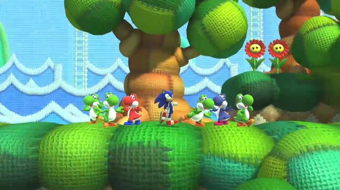 Yoshi's Island Zone from Sonic: Lost World.