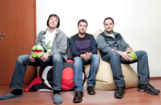 Zeptolab founders Semyon Voinov, Misha Lyalin, and Efim Voinov.