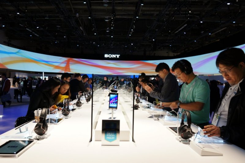 The Sony CES booth from last year #CES2014