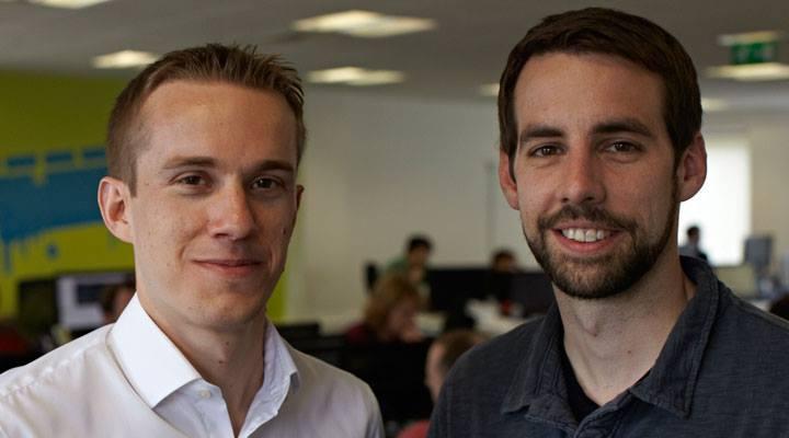 SwiftKey cofounders Jon Reynolds and Ben Medlock.