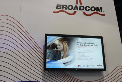 Broadcom chips bring the internet to cars.