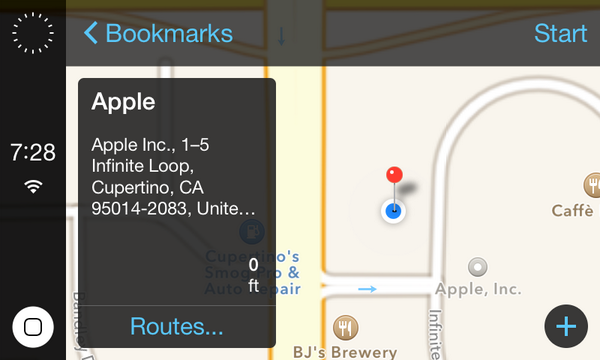 An alternate user interface for Apple's iOS-integrated cars.