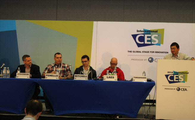 Left to right: Robert Stevenson, Albert Penello, Nate Mitchell, Jami Laes, and Dean Takahashi