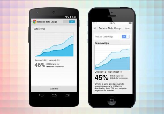 Chrome mobile data compression promises big data reductions.
