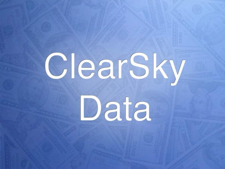 ClearSky Data doesn't have a logo or website yet, so we made this. (We apologize to real graphic designers everywhere.)