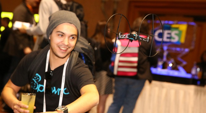 Parrot's new Mini Drone takes to the air.