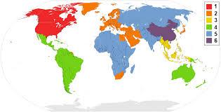dvd region map