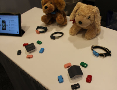 FitBark gadgets fit on your dog's collar and monitor activity.
