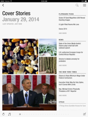 """Flipboard's new """"cover stories"""" section."""
