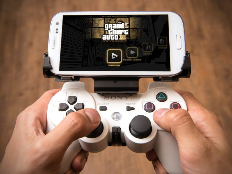 The GameKlip cellphone dock for the DualShock 3 controller -- you might need this to play games through PS Now on mobile.
