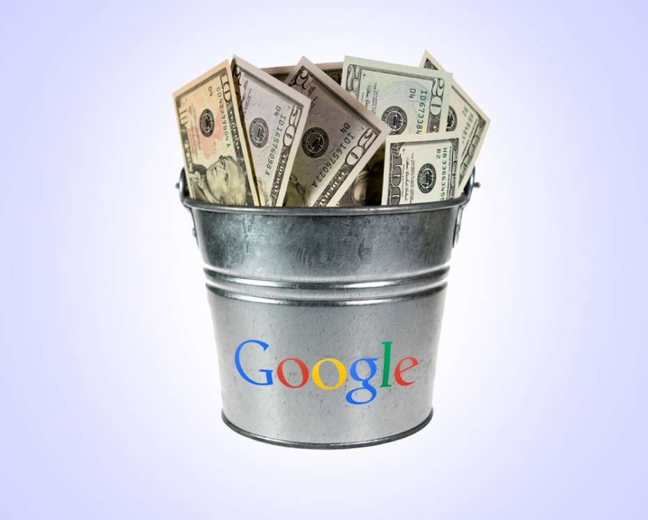 Google bucket of money