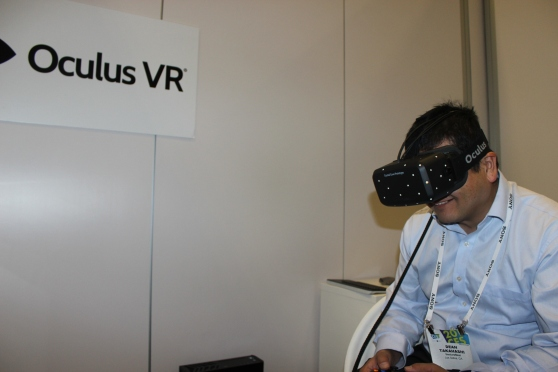 Oculus VR added low persistence, OLED screen, and positional tracking. That means sharper picture, no seasickness. #CES2014
