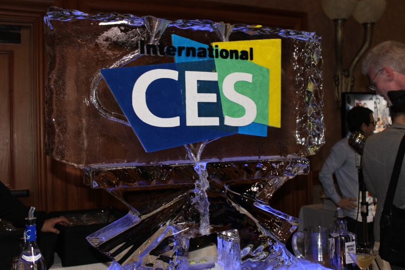 The traditional ice sculpture at CES Unveiled #CES2014