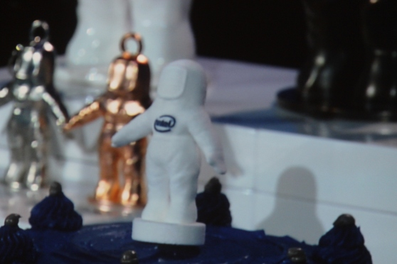 Intel showed a 3D printer that printed chocolate bunny people. #CES2014