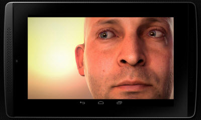 The Tegra K1 can run the full Ira demo of a human face without flaws.