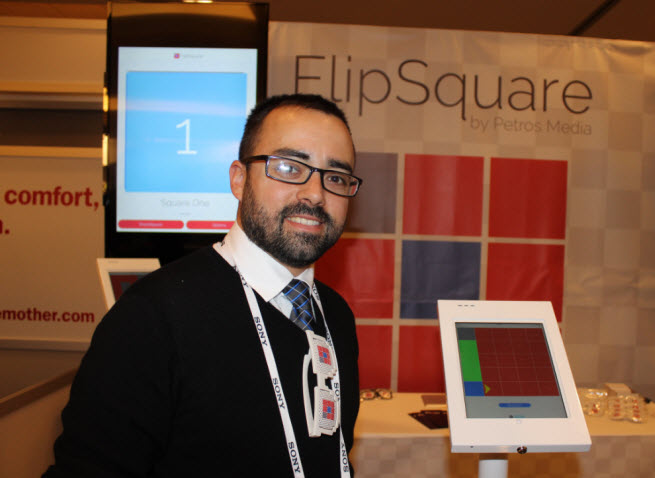 Kenny McCann of Petros Media, developer of FlipSquare