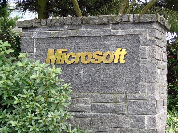 A sign at Microsoft's headquarters in Redmond, Washington.
