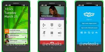 Nokia's leaked Android UI: an interesting mix of Windows Phone and Asha