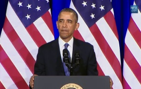 President Obama addressed changes to U.S. government surveillance policies in a speech at the Justice Department on Friday.