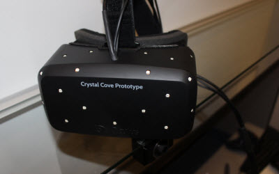 Oculus Rift Crystal Cove prototype.