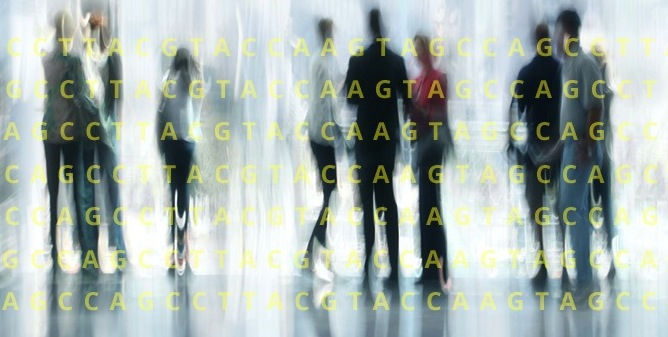 Genomic data is all around us, the background art from Omicia's website implies.