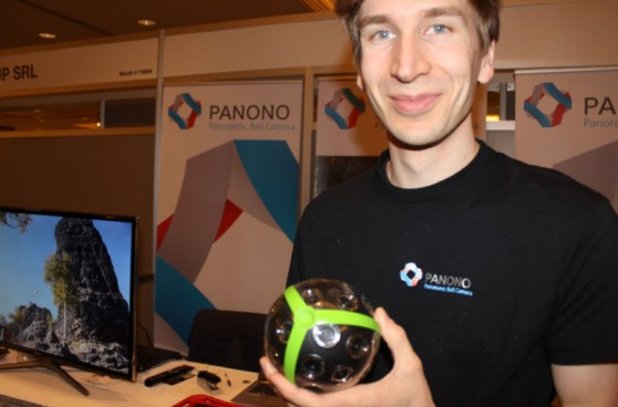 Jonas Pfeil of Panono, which makes a ball that shoots 36 pictures at once.