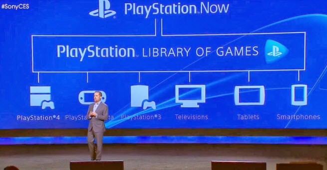 Sony announces PlayStation Now service.
