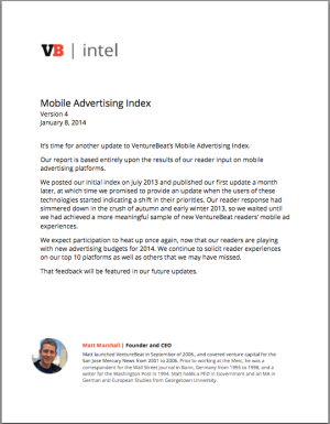 VB Mobile Ad index