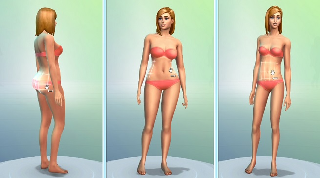 The Sims 4 female body shape