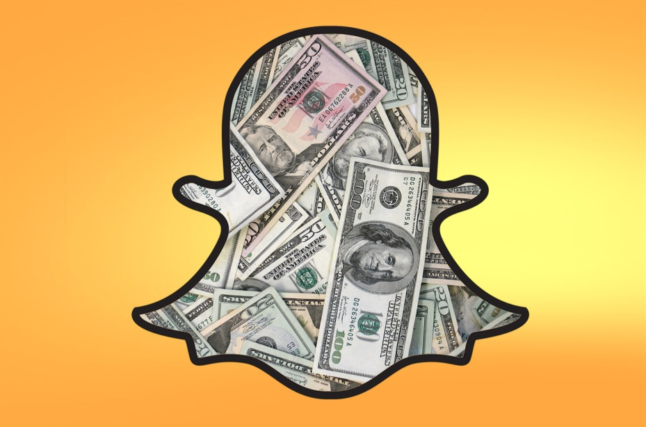 Snapchat ghost filled with money