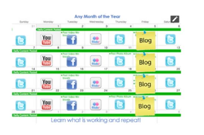 Your social media calendar