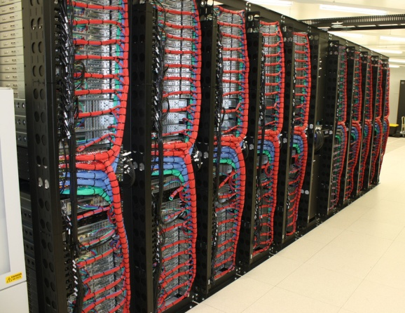 "A SoftLayer ""pod"" in the company's Amsterdam data center."