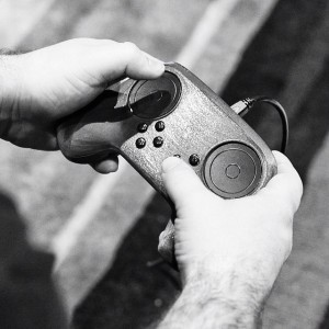 A 3D-printed prototype of the latest Steam Controller design.