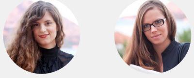 Josipa Majic and Anna Burica, founders of Teddy the Guardian.