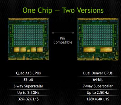 Tegra K1 has a 32-bit and 64-bit version.