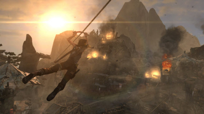 Tomb Raider: Definitive Edition takes advantage of the next-generation consoles' 3D capabilities.