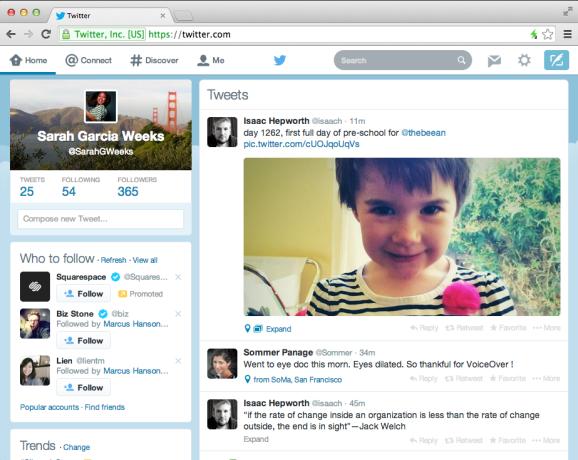twitter web design