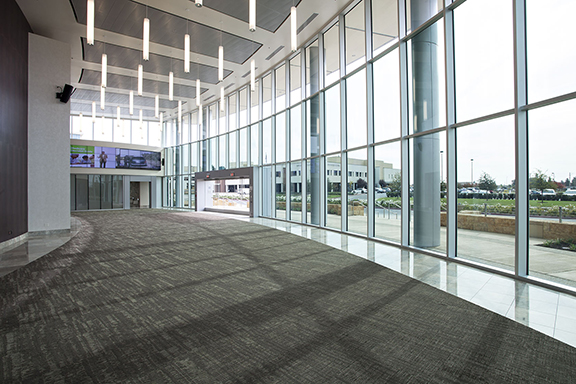 View glass at the Clovis Community Medical Center in Clovis, CA.