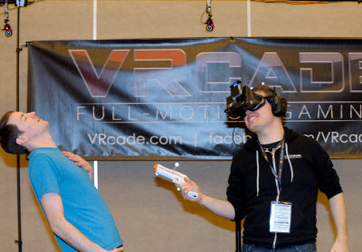 VRcade showed its prototype at the Power of Play event.