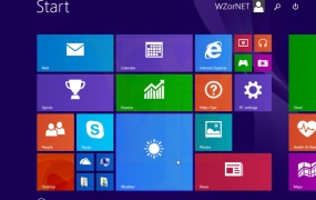 "A leaked screenshot of Windows 8.1 Update 1 from Russian leaker ""WZor,"" prior to its release."