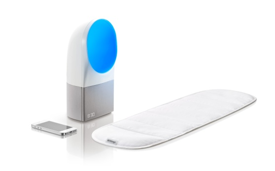 The Withings Aura has two parts, and works with a smartphone.
