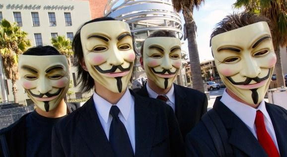 Members of Anonymous in Los Angeles.